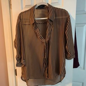 Black and Rust forever 21 blouse sz L